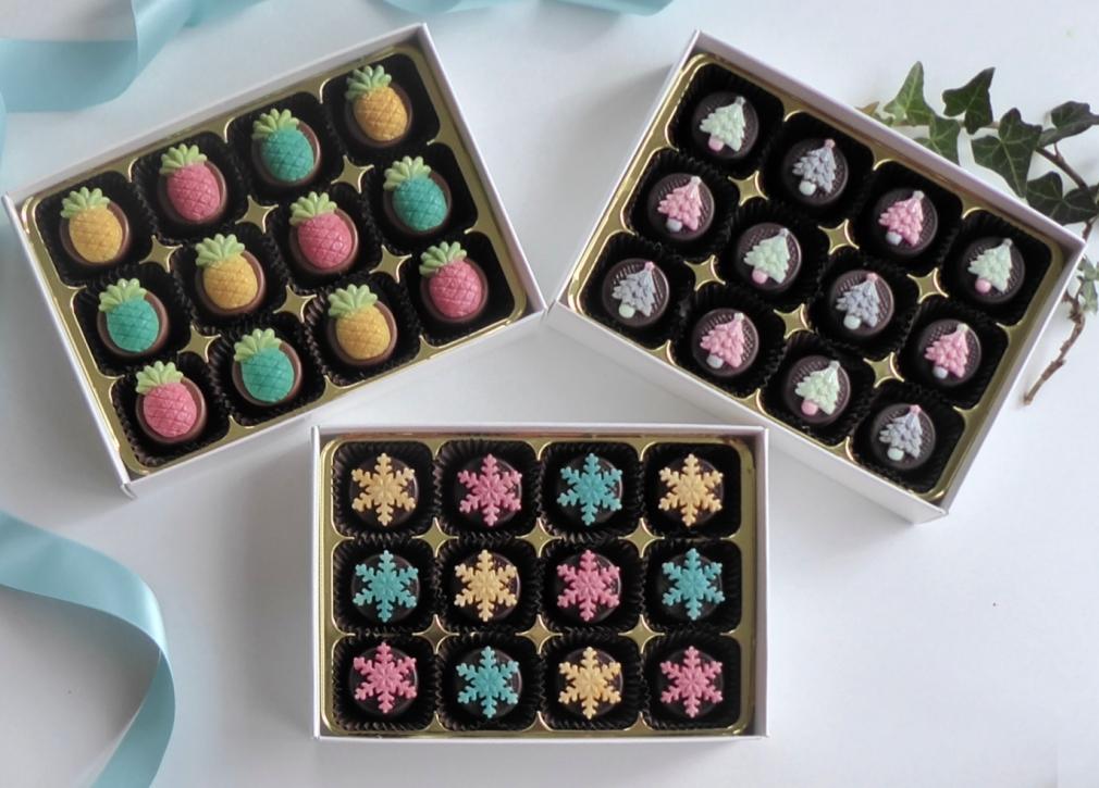 Decorated Christmas Chocolates