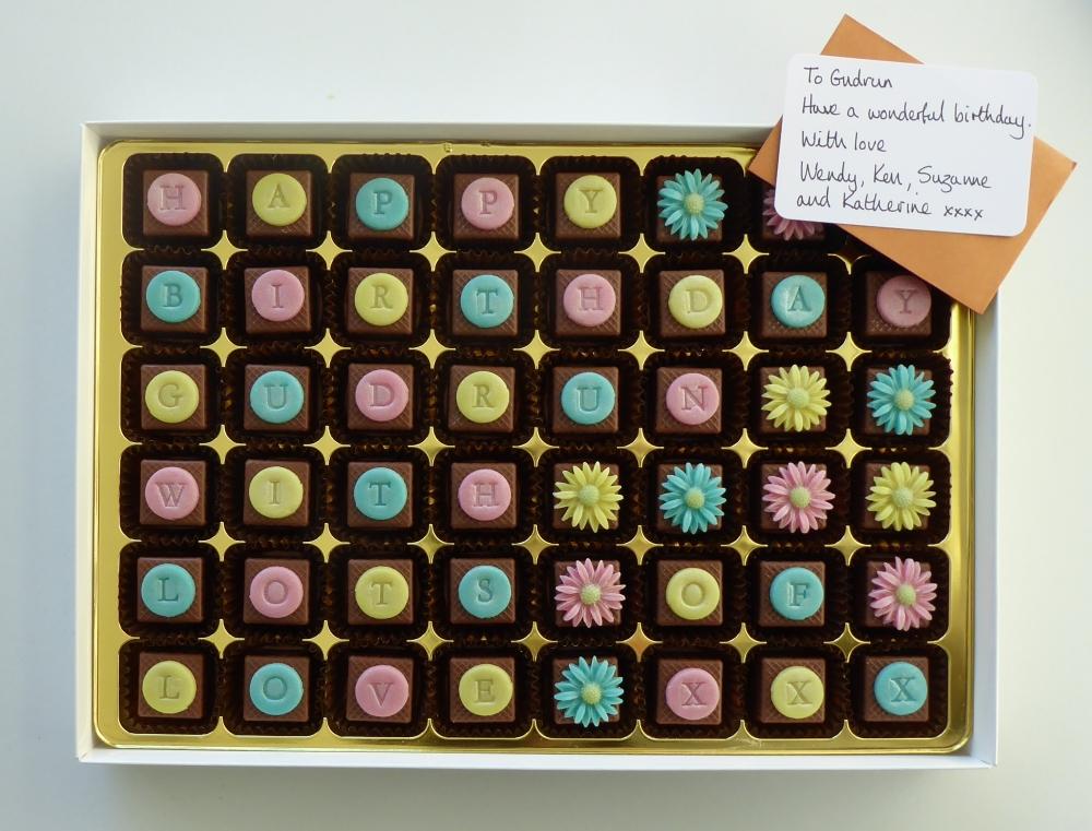 Marzipan chocolate gift