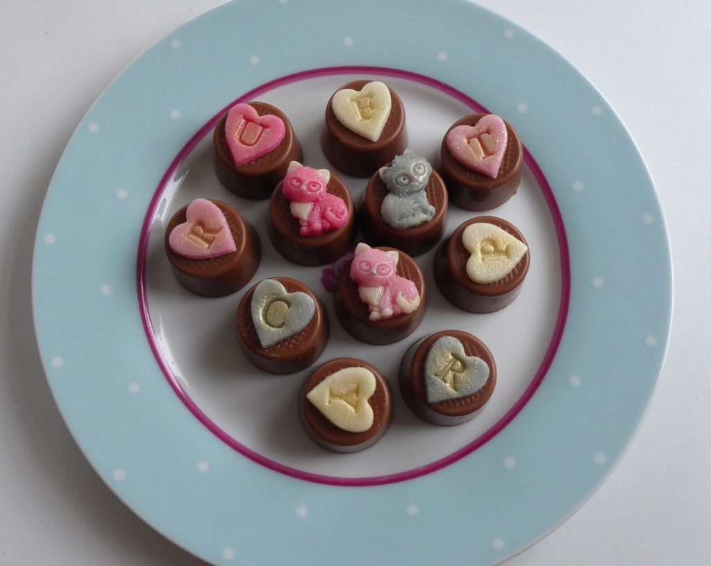 Handmade cat chocolates