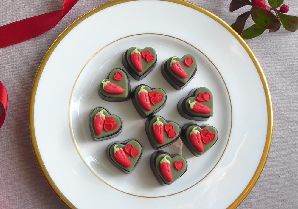 Chilli flavoured chocolates