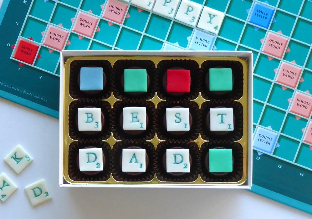 Scrabble chocolates
