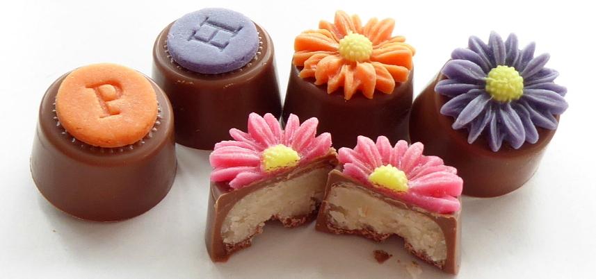 Bright Daisies marzipan chocolates